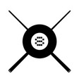 black eight ball symbol vector image vector image