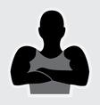 bodybuilder design vector image vector image