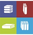 Books flat icon on color background vector image