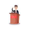 businessman or politician character speaking from vector image