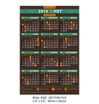 calendar 2015 with Phases of the moon HST vector image vector image