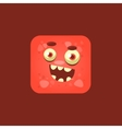 Cheeky Red Monster Emoji Icon vector image vector image