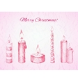 Christmas card in rosy colors vector image vector image