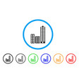 city rounded icon vector image vector image