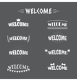 Collection of 9 Welcome labels emblems stickers or vector image