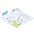 company office rooms isometric interiors vector image vector image