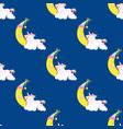 cute unicorn pattern magic baby vector image vector image