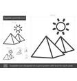 egyptian pyramid line icon vector image vector image