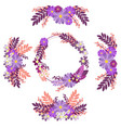 flower ornament circle groups in minimalist style vector image vector image