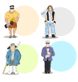Four different men types vector image