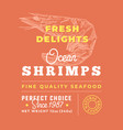 fresh seafood delights premium quality label vector image vector image