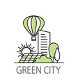 green city banner vector image vector image