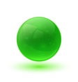 Green glossy glass sphere vector image vector image