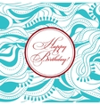Happy birthday on wooden background vector image vector image