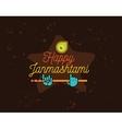 Happy Janmashtami festival typographic vector image vector image