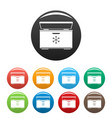 ice cream refrigerator icons set color vector image vector image