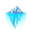 Iceberg isolated on white vector image vector image
