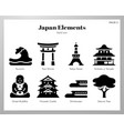 japan elements solid pack vector image