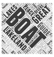 Lakeland Boating Word Cloud Concept vector image vector image
