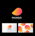 logo mango business card vector image vector image