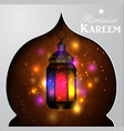 magic stain glass light vector image vector image