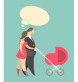 Married couple with a child vector image vector image