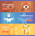 medical and health banners set eye care vision vector image vector image