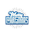 merry christmas xmas badge with handwritten vector image vector image
