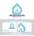 modern home logo design vector image vector image