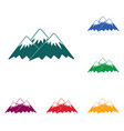 mountain icon concept vector image vector image
