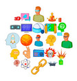 online simulator icons set cartoon style vector image vector image