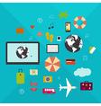 Online travel vector image
