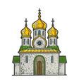 orthodox christian church sketch vector image