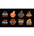 Pizza logo Collection labels for menu design vector image