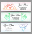 polygonal shapes banners set vector image vector image