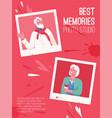 poster best memories for photo studio vector image