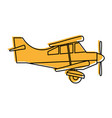 propeller airplane icon image vector image vector image