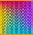 rainbow gradient background with honeycomb texture vector image vector image