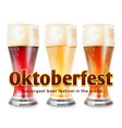 realistic glasses beer vector image vector image