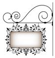Retro signboard vector image vector image
