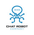 robot chat logo vector image