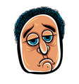 Sad cartoon face vector image vector image
