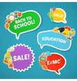 School bright stickers set vector image