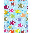 seamless fish background vector image vector image