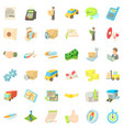 service icons set cartoon style vector image vector image