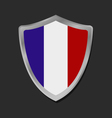 Shield with flag of france vector image vector image
