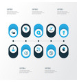 sign icons colored set with explosive slippery vector image vector image