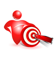 Social target icon vector image vector image