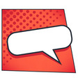 speech bubble or dialog chatting box in comic book vector image vector image