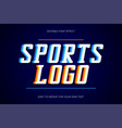 sport text effect college style text sans-serif vector image vector image